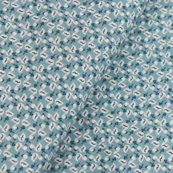 Poplin Flamingo Smoke Blue