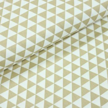 Woven Cotton Twill Triangle D.Beige